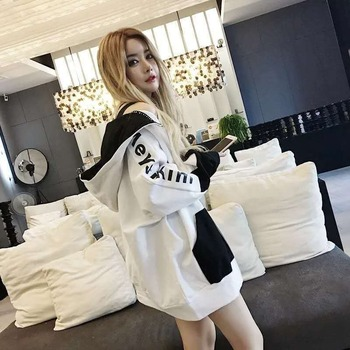 bambi staveley how to make thin hair fat Hoodie Sweatshirt Jacket Female Korean Version 2020 New Large Size Thin Loose Sweater Plus Fat To Increase Harajuku Hoodie