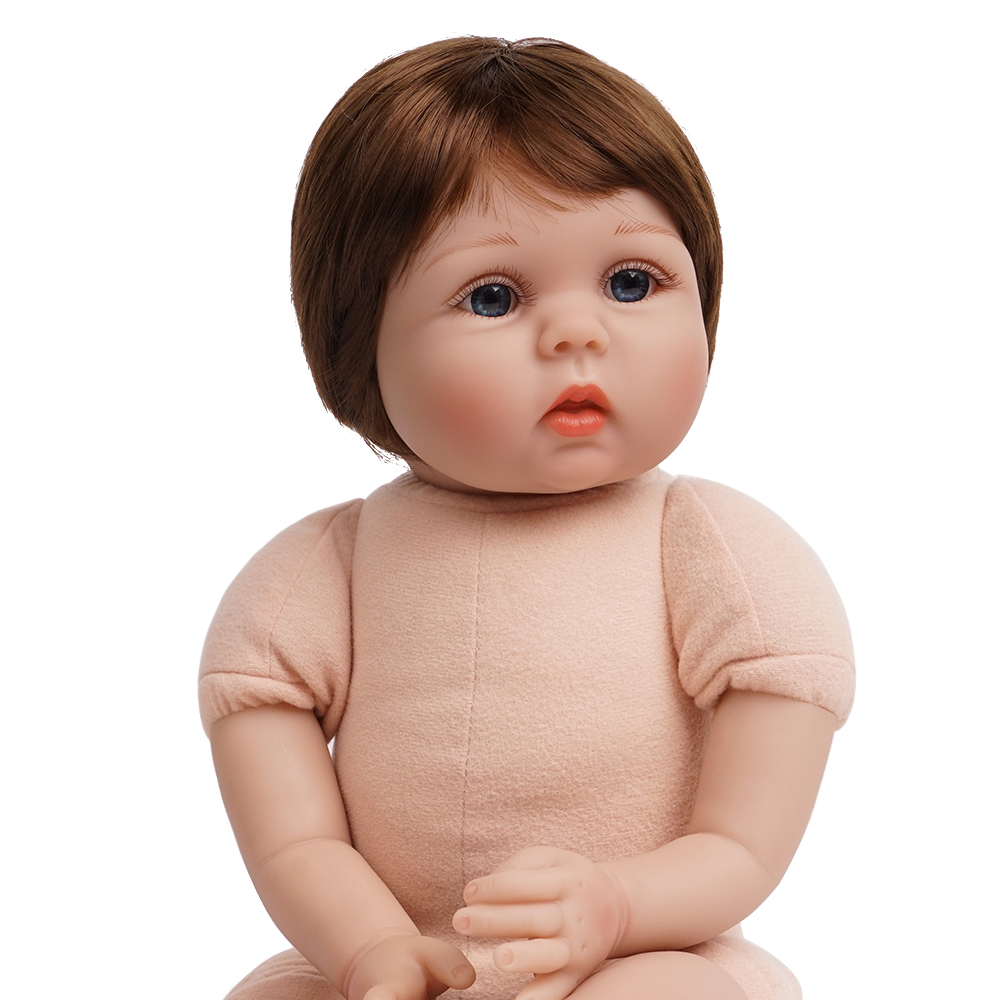 lifelike menina brinquedo silicone vinil algodão corpo