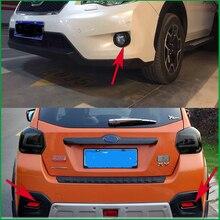 עבור סובארו XV 2012 2013 2014 2015 ABS רכב קדמי או אחורי פגוש ערפל מנורת אור מסגרת כיסוי מדבקה לקצץ רכב סטיילינג חלקי רכב