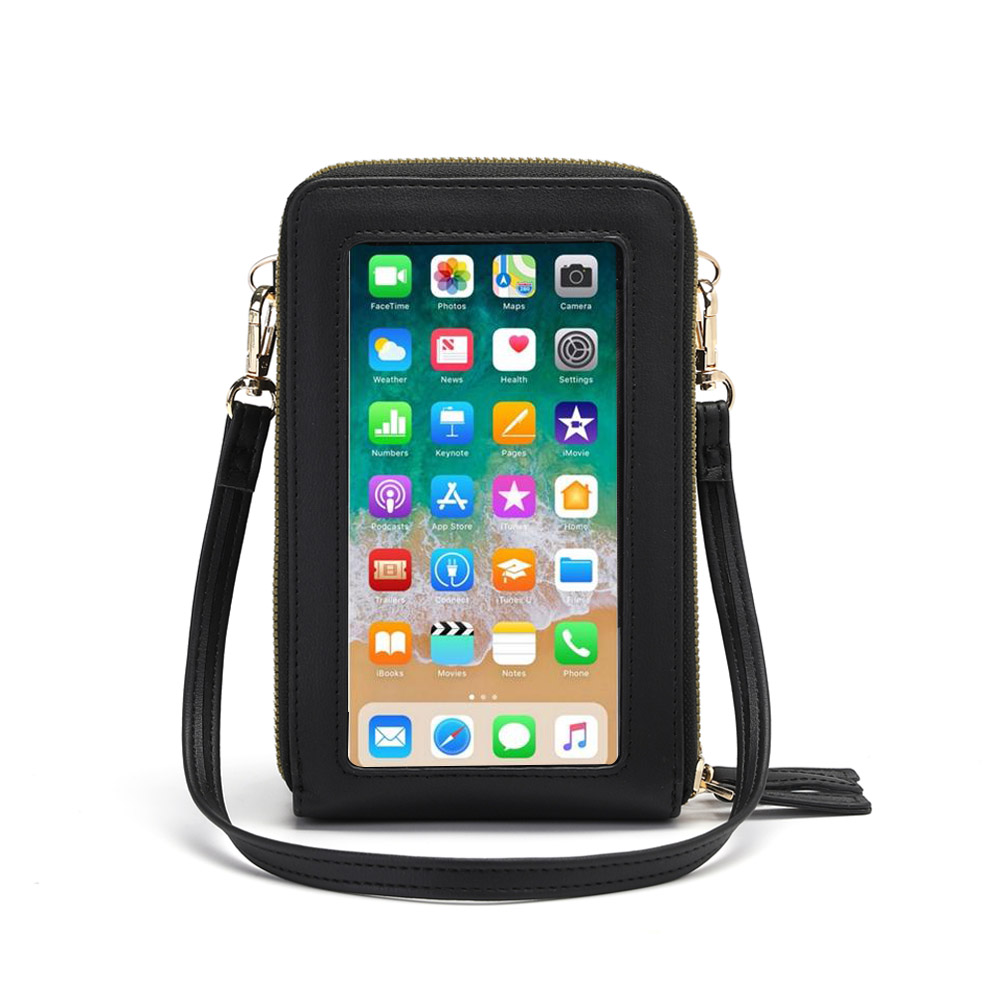 Drop Shipping Crossbody Cellphone Purse Women Touch Screen Bag RFID Blocking Wallet Shoulder Handbag