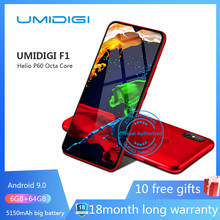"UMIDIGI F1 Android 9.0 6,3 ""FHD 128GB ROM 4GB RAM 5150mAh 18W Schnelle Lade Smartphone nfc 4g entsperrt handy octa core zelle(China)"