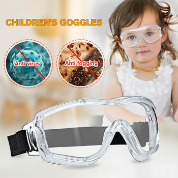Children Transparent Protective Safety Glasses Work Eye Anti-Fog Antisand windproof Anti Dust Goggles Protection for Kids - discount item  29% OFF Workplace Safety Supplies