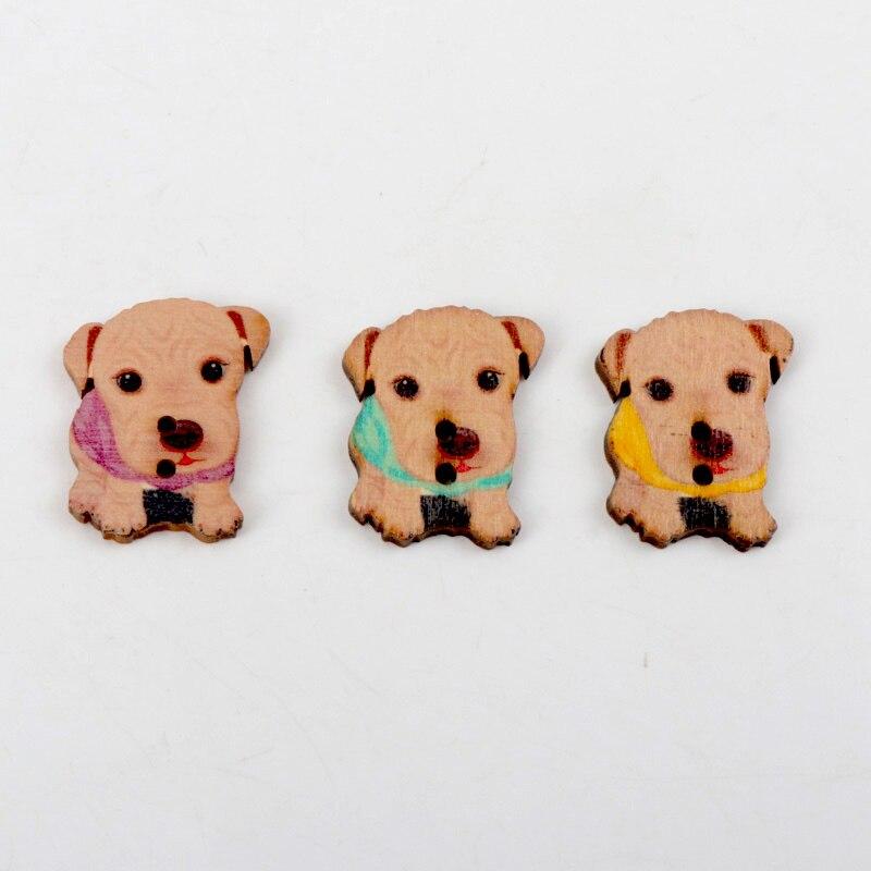 Cute Animal Wooden Buttons Cartoon 2 hole sewing scrapbook random mix DIY