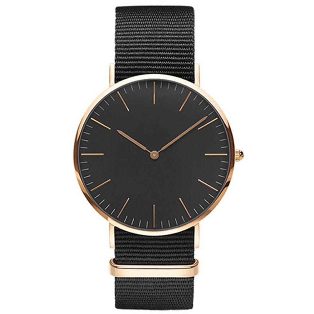 Korean Fashion Canvas Band Women Wristwatch Fashionable Watch Fashion Round Dial Quartz Wrist Watches Best Gift