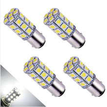 4PCs 5050 1156 BA15S 27SMD White LED Bulb Lamp P21w R5W R10W 1157 Led Bulbs Turn Signal Reverse Lights Car Light Tail Parking