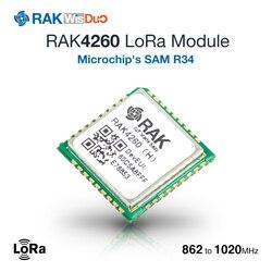 Модуль RAK4260 LoRa основан на ATSAMR34J18B микрочипа. Это объединение 32-разрядный процессор ARM Cortex-M0 + MCU с LoRa приемопередатчик