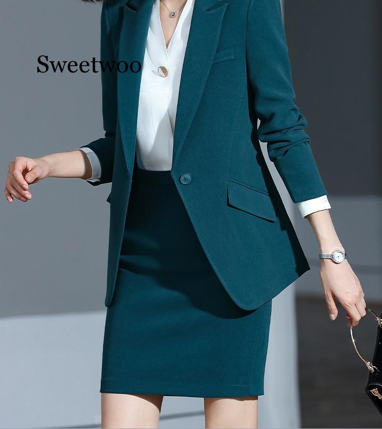 Women's Suit 2019 New Autumn Large Size Long Solid Color Fashion Suit Trousers Set Two-piece Temperament Women's Clothing