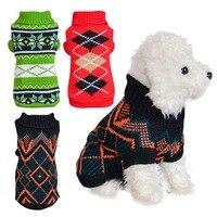 Свитер для собаки зимняя одежда для собак свитера для маленьких собак Щенок таксы пуловеры с кошками вязаный джемпер свитера для собак