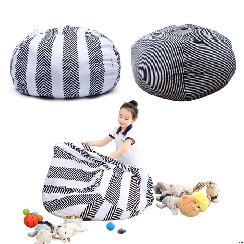 1Pcs Stuffed Animal Storage Bean Bag Chair Portable Baby Kids Toy Storage Sofa Clothes Bag For Baby Chirden