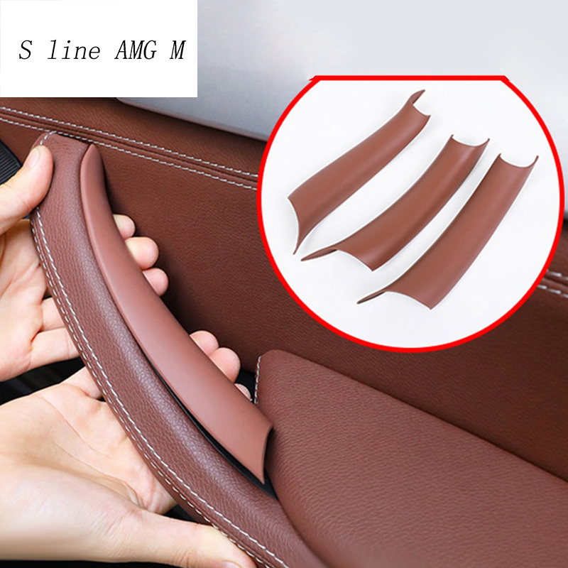 Car Styling Door Armrest Handle Inner Panel Pull Trim Covers Stickers For BMW E70 X5 E71 E72 X6 SAV Interior Auto Accessories