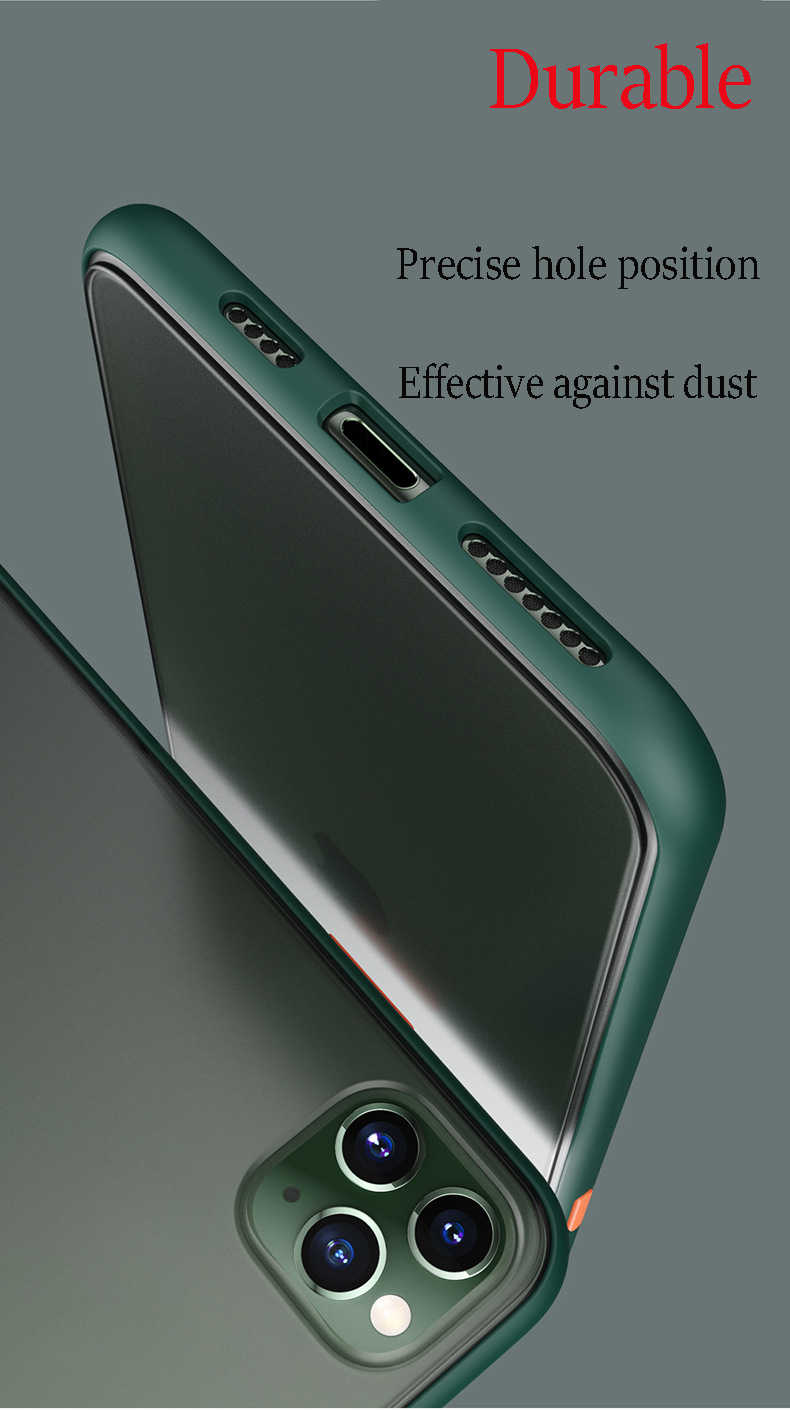 Hit Warna Anti Sidik Jari Ponsel Case untuk XiaomiCC9E A3lite Note10 Redmi Note8T K20pro. matte PC Kembali Lembar + Silikon Bingkai