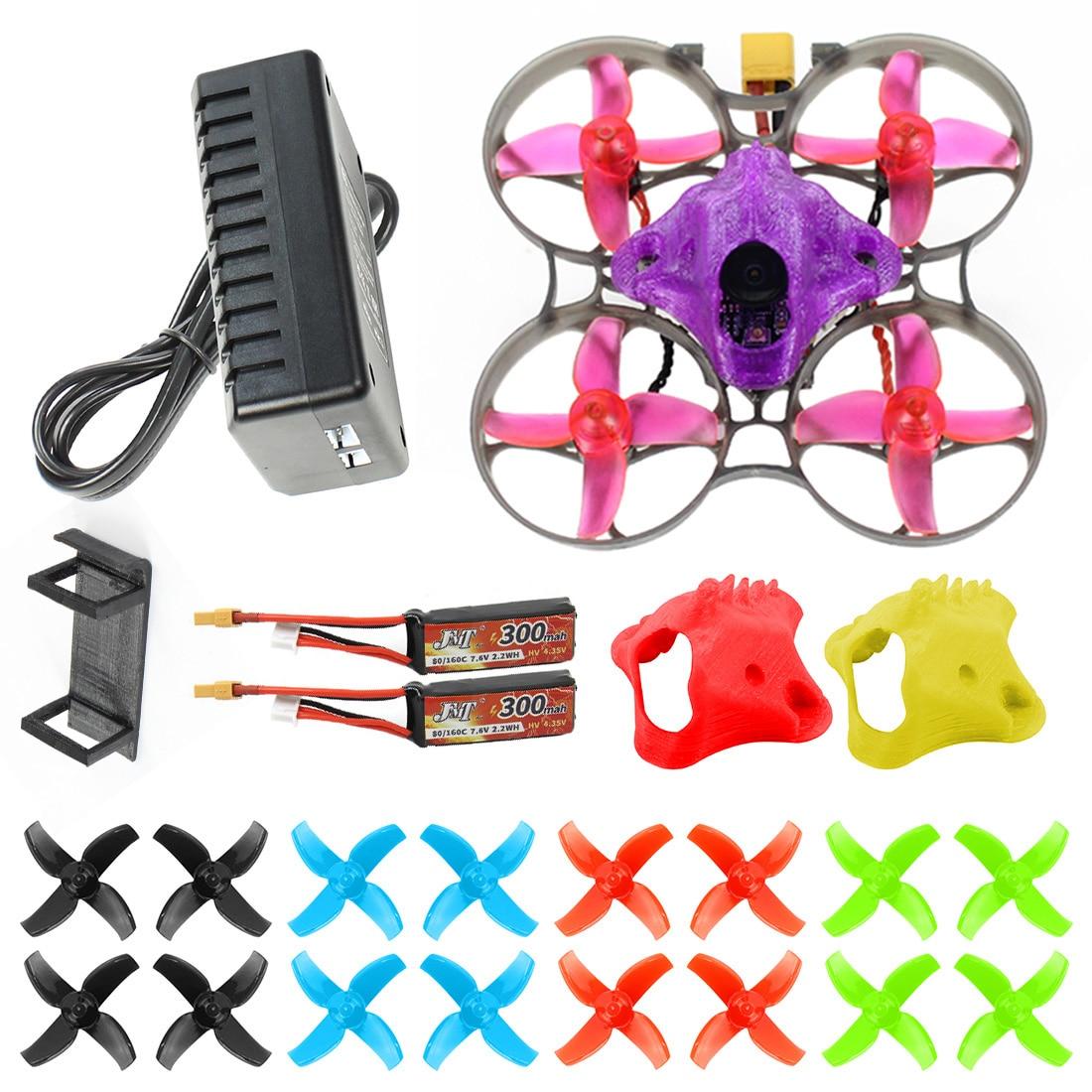 DIY FPV Racing Drone RC Quadcopter BNF with Mobula7 V3 75MM Frame Crazybee F4 Pro V2.1 2-3S Flight Controller SE0802 Motors Part