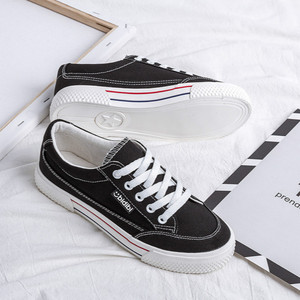 Image 3 - SWYIVY White Shoes Woman Platform Sneakers Canvas Shoes 2020 Spring New Female Causal Shoes Black Sneakers On Platform Heel