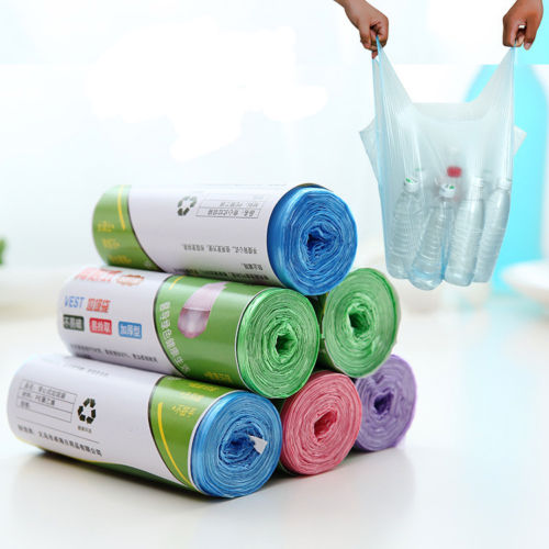 Environmental Protection Garbage Bag Household Cleaning Tools 1 Roll 100Pcs Waste Trash Clean Up Rubbish Bags Kitchen Toilet Use