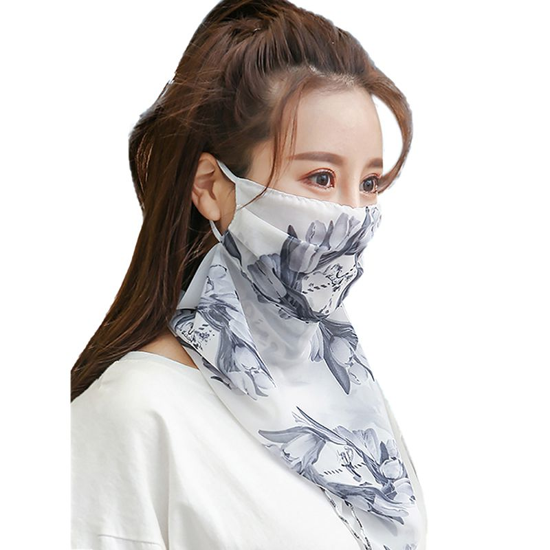 Outdoor Half Face Mask Double Sided Windproof Dust-proof Sunshade Neck Cover Protector Masks Scarf Shawl Body Protectors