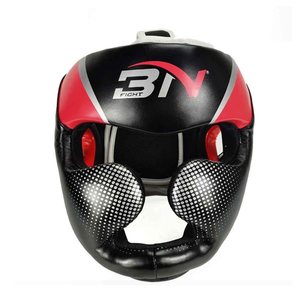 Для женщин мужчин молодежи взрослых атлет соревнований тхэквондо из искусственной кожи Муай Тай головные уборы боксерский шлем Защита спарринг каратэ Санда - Цвет: Красный