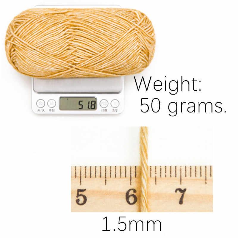 130M /50g/레인보우 세그먼트 염색 원사 양모 DIY 수제 니트 아기 스웨터 모자 스카프 소파 쿠션
