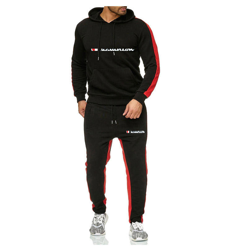 European And American Style Men's Casual Sports Suit Hoodie Cover 2-piece Business Casual Sports Suit Running Suit
