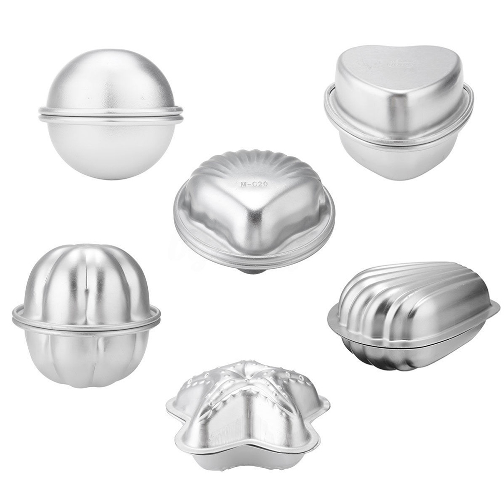Aluminum Metal Bath Bomb Mold Mould For DIY Homemade Crafting Blasting Bath Salt Ball Mold