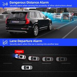 """Image 4 - Azdompg02 10 """"مرآة تعمل باللمس اندفاعة كام تدفق الوسائط ADAS عدسة مزدوجة عكس الكاميرا للرؤية الليلية 1080P مسجل السيارة ل Uber"""