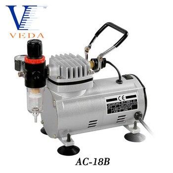 AC-18 Series Power Tools Portable Airbrush Spray Mini Air Compressor Professional Gravity Feed Dual-Action Piston