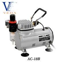 AC-18 Serie Power Werkzeuge Tragbare Airbrush Spray Mini Luft Kompressor Professionelle Gravity-Feed Dual-Action Kolben Luft Kompressor