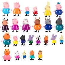 Peppa pig brinquedo conjunto george pvc boneca modelo de brinquedo das crianças richard emily antílope professor 1/6 figura ação crianças presente aniversário