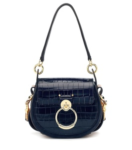 Image 2 - Genuine Leather  Tess Saddle  Woman Fashion Crocodile Pattern Womens Real Leather Luxury Brand Shoulder Purse