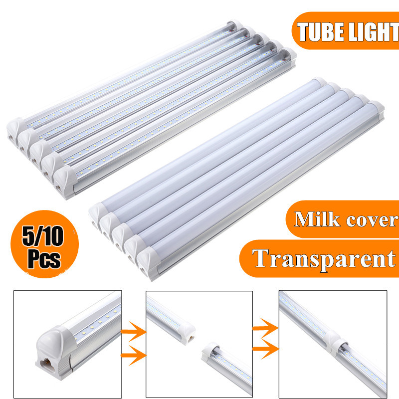 5PC/Pack T8 LED Tubes AC85-265V 50cm T8 G13 12W SMD2835 36 LED Tube Fluorescent Light For Indoor Home Kitchen Decor