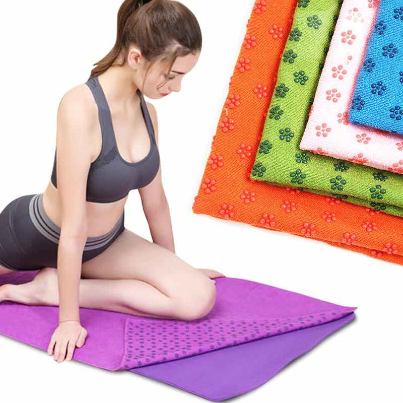 68 cm IAMZHL Yoga Mat Printing Toalla de Tela Antideslizante Plegable Ultrafina Absorbente de Sudor Yoga port/átil Almohadilla de Viaje Pilates 183 cm 0.15 cm