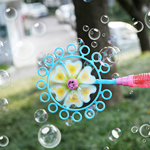 Windmill Bubble Blower Pinwheel Magic Bubble Wand Spinner Bubble Maker Outdoor Bubble Machine Soap Tools Toy Supplies