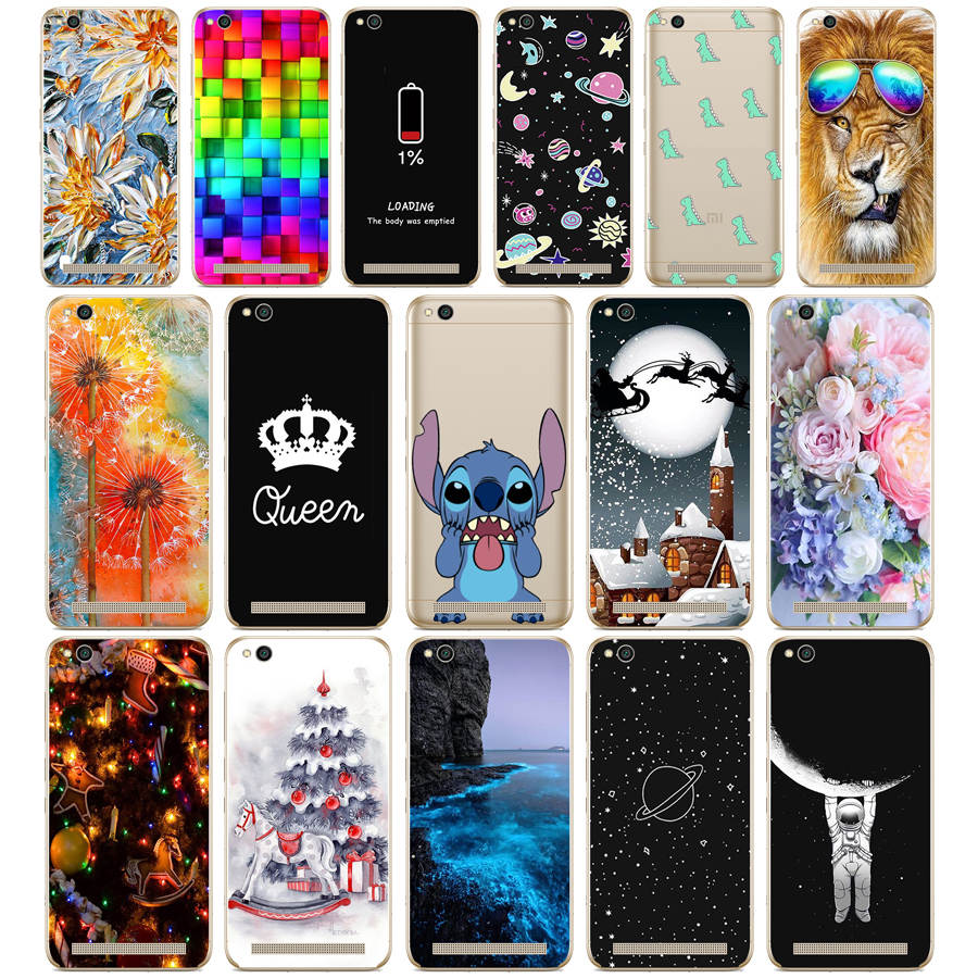 Case For Xiaomi Redmi 5A Case Cover Silicon Case For Xiaomi Redmi 5A Cover Cat Flower Cartoon Fundas For xiaomi Redmi 5A Capa