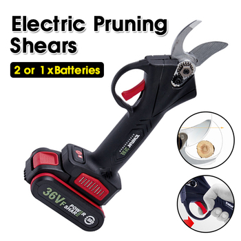 36VF Cordless Pruner Lithium-ion Pruning Shear Efficient Fruit Tree Bonsai Pruning Electric Tree Branches Cutter Landscaping