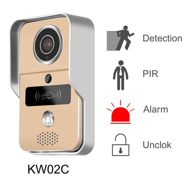 KW02C WIFI 1080P Doorbell 2.0MP Video PIR IR Night Vision Motion Detection Alarm Waterproof Door Phone POE Camera For ONVIF Hot