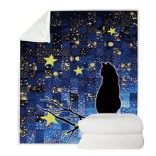 Double Side Blanket Outdoor Animal Themed Sherpa Fleece Throw Blanket For Bed Couch Sofa Kids Adults All Season(China)
