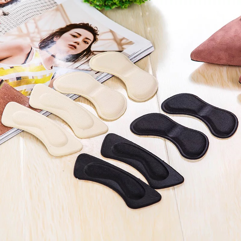 1Pair Heel Pad High Quality Sponge Invisible Back Soft Heel Pads High Heel Shoes Grip Adhesive Liner Cushion Insert Pad Insoles