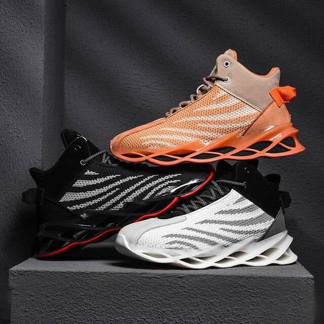 Nieuwe Lichtgevende Herenschoenen High Top Basketbal Schoenen Ademende Outdoor Sportschoenen Slijtvaste Casual Schoenen Zapatos hombre