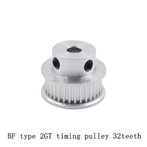 32 teeth GT2 Timing Pulley Bore 5mm 6mm 6.35mm 8mm 10mm for belt used in linear 2GT pulley 32Teeth 32T(China)