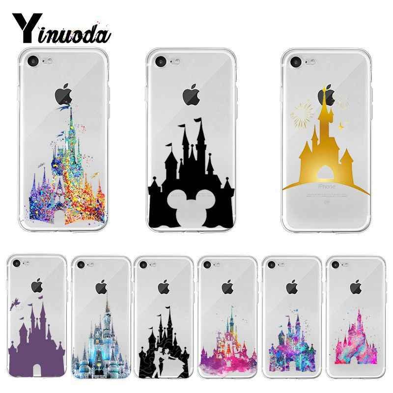 Yinuoda colorido cinderela castelo magia reino telefone estojo para iphone 8 7 6 s plus x xs max 5 5S se xr 11 pro max