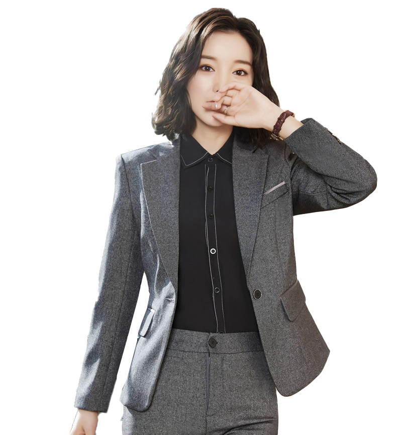 Female Elegant Formal Office Ladies Navy Blue Blazer Women Work Wear Jackets Uniform OL Style Blazers and Jackets Tops and Coats