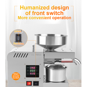 Image 5 - X5S LED Digital Oil Press Stainless Steel Temperature Control Coconut Kernel Oil Peanut Butter Olive Oil Press