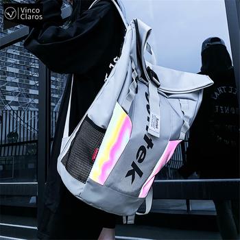 Moda odblaskowa Design plecak młodzieżowy Trend plecaki szkolne dla nastolatków plecak męski o dużej pojemności wodoodporny taktyczny tanie i dobre opinie Vinco Claros Oxford CN (pochodzenie) 20-35 litrów Miękka osłona Kieszonka na telefo Wewnętrzna kieszeń na zamek błyskawiczny