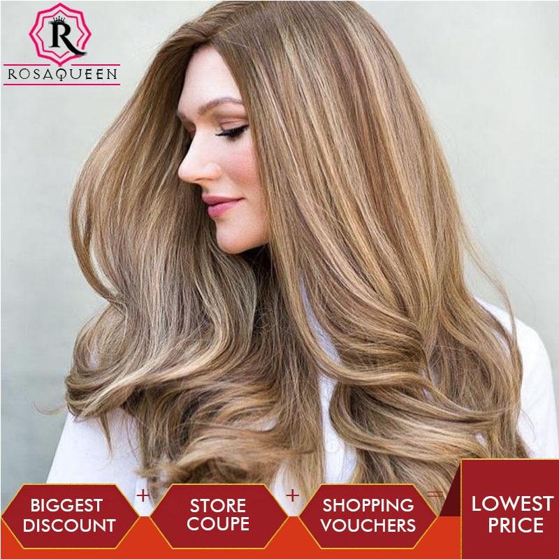 Blonde Customized Wig Silk Base Top High Quality Unprocessed European Virgin Hair Wig Double Drawn Rosa Queen Hair For Women