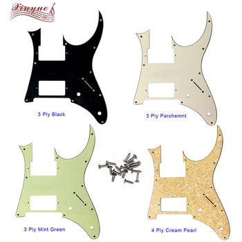 Pleroo Guitar Parts - For 10 hole screws MIJ Ibanez RG350EXZ Guitar Pickguard Humbucker HH Pickup Scratch Plate,many colors ootdty 4x lp guitar pickup surround screw humbucker pickup ring mounting screws suit for guitar