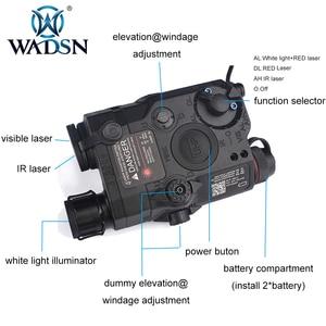 Image 3 - Wadsn uhpバージョンエアガンla 5 peq 15 レッドドットレーザーサイトled懐中電灯LA5 irレーザーpeq戦術softair狩猟武器ライト
