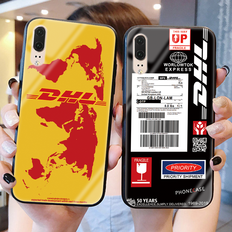 dhl Express Tempered Glass Back Cover For <font><b>Huawei</b></font> Honor 8X 10 Lite 9 7A Pro View 30 P30 P20 Lite Pro P Smart <font><b>Y6</b></font> Y9 <font><b>2019</b></font> 2018 Case image