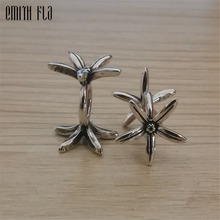 Small Flowers Charms Silver 925 Original Beads Fit Original Brand Bracelet Jewelry Vintage Bead for Jewelry Making Beads
