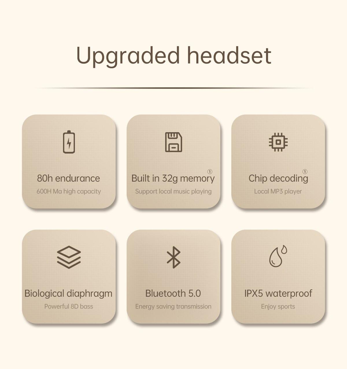 bluetooth 5.0 9d alta fidelidade estéreo à