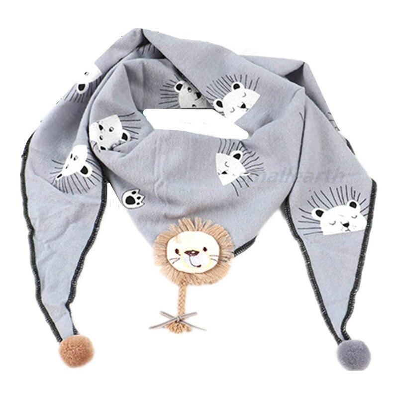 Весенние клетчатые треугольные шарфы в горошек для маленьких девочек; осенне-зимняя шаль для мальчиков и девочек; Детские хлопковые воротники; теплый детский шейный платок - Цвет: B2