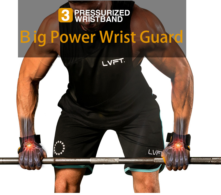 1Pair Gym Gloves with Wrist Support Crossfit Fitness Gloves